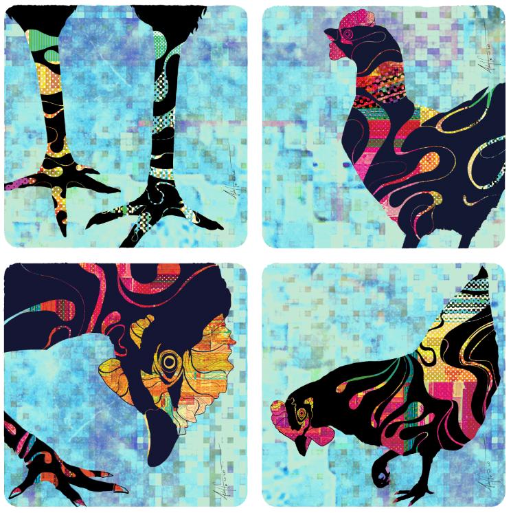 Gallinas Square Coaster Design--©2020 Ad