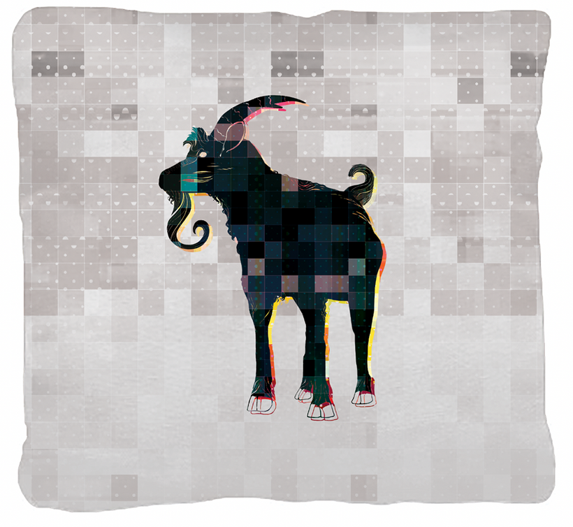 Cabras! Pillow Design © Adolfo Valle Studios--All Rights Reserved