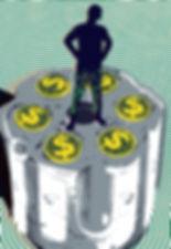 Credit card illustration sniper stealing information