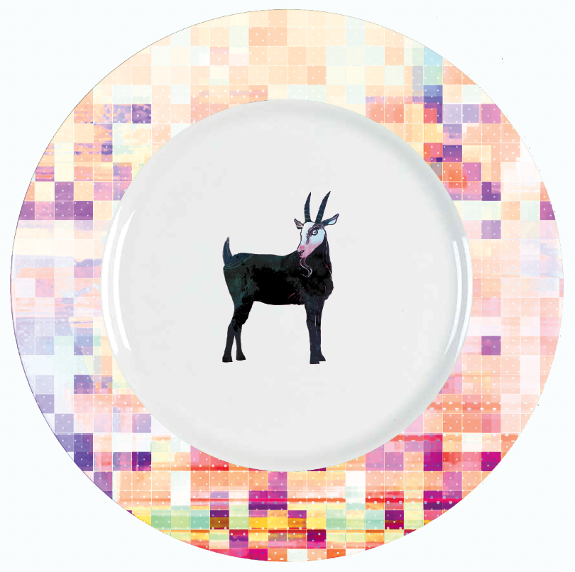 Cabras! Plate Design © Adolfo Valle Studios--All Rights Reserved
