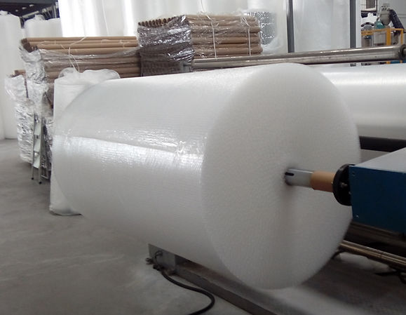 Fabricación de rollos de plástico de burbujas