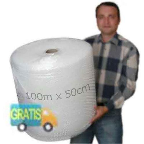 Rollo de plástico de burbujas 0.5x100m para mudanzas