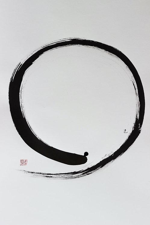 Cercle d'éveil | 円相 | 50x65cm