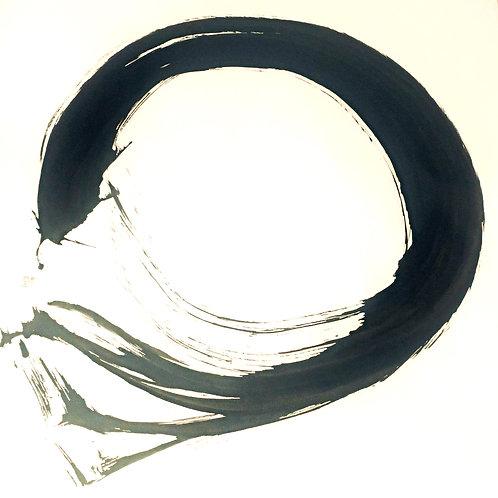 Cercle d'éveil Chaos | 混沌円相 | 110x75cm