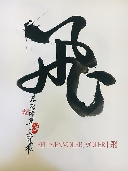 Fei | S'envoler, Voler | 飛 | 42x59,4cm