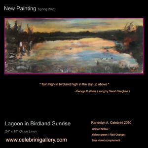 Celebrini Gallery- Lagoon in Birdland Su
