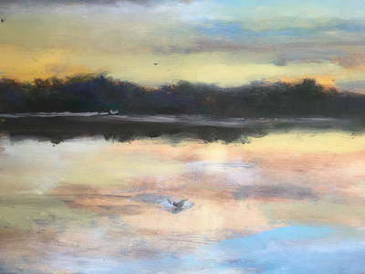 Celebrini: Lagoon in Birdland Sunrise