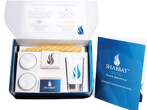 6-piece Shabbat Away Travel Essential (multi-use, disposable) collection