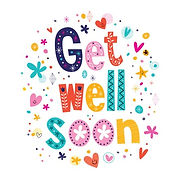 Cheerful get well soon