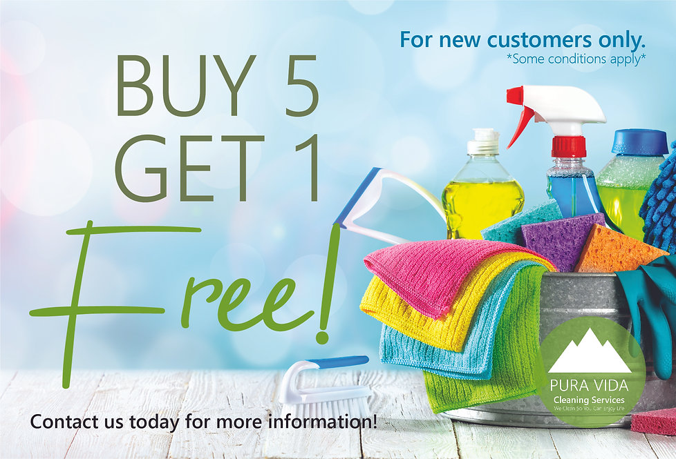 Pura Vida Cleaning Services_Buy 5 get 1