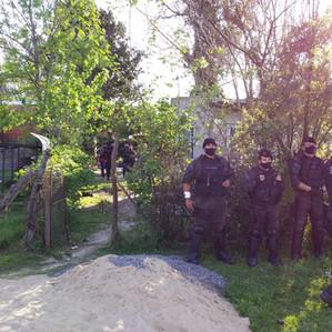 Allanan y desalojan una vivienda usurpada en San Vicente