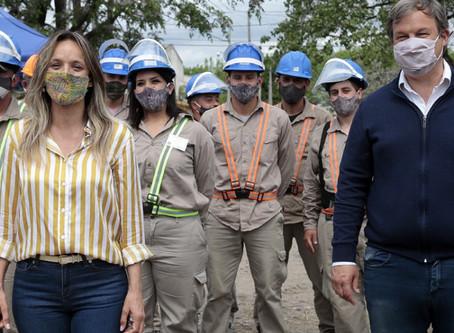 Burzaco: Cascallares y Galmarini recorrieron una nueva red de agua potable