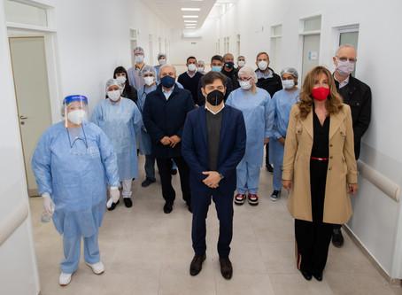 Ezeiza: El gobernador Kicillof inauguró un centro de salud y una nueva sucursal del Banco Provincia