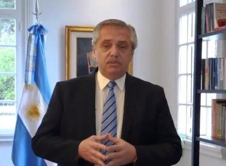 Fernández anunció una nueva extensión del aislamiento social hasta el 20 de septiembre