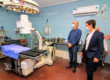 San Vicente: Mantegazza y Gollán supervisaron obras en el Hospital Municipal Dr. Ramón Carrillo