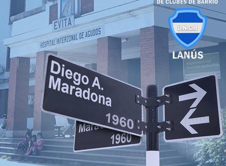 """La UNCB Lanús propone llamar """"Diego Armando Maradona"""" a la calle donde nació el astro argentino"""