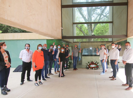 17 de octubre: Intendentes y dirigentes peronistas recordaron el Día de la Lealtad en San Vicente