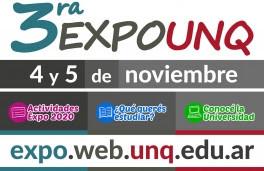 3º Expo UNQ: La feria universitaria será virtual, el 4 y 5 de noviembre