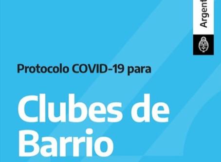 Se presentó el Protocolo COVID-19 para Clubes de Barrio