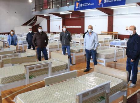 Grindetti y Russo recorrieron el Centro Comunitario de Contención del Club Lanús