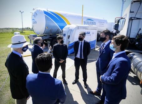 Kicillof y Mantegazza participaron de la inauguración de nuevos equipos de la planta de Buquebus