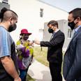 Kicillof y Watson entregaron viviendas e inauguraron nueva sede de la policía científica en Varela