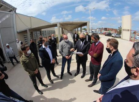 Insaurralde, Katopodis y Alak recorrieron las obras de la nueva cárcel de Lomas de Zamora
