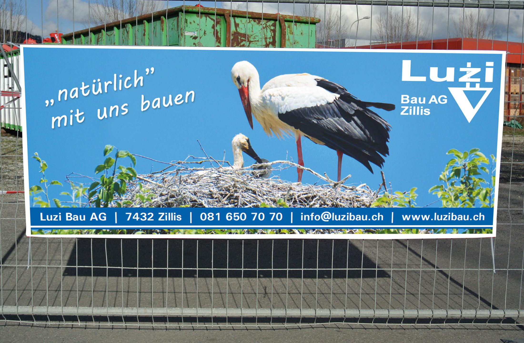Werbebanner 250x100 cm