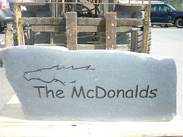 Engraved Stone Markers for Addresses Names Memorials and Monuments