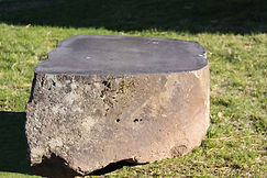 Cut basalt rock tables benches markers