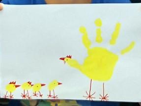 Hühnerfamilie der 1.Klasse