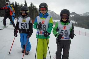 Beim Skirennen