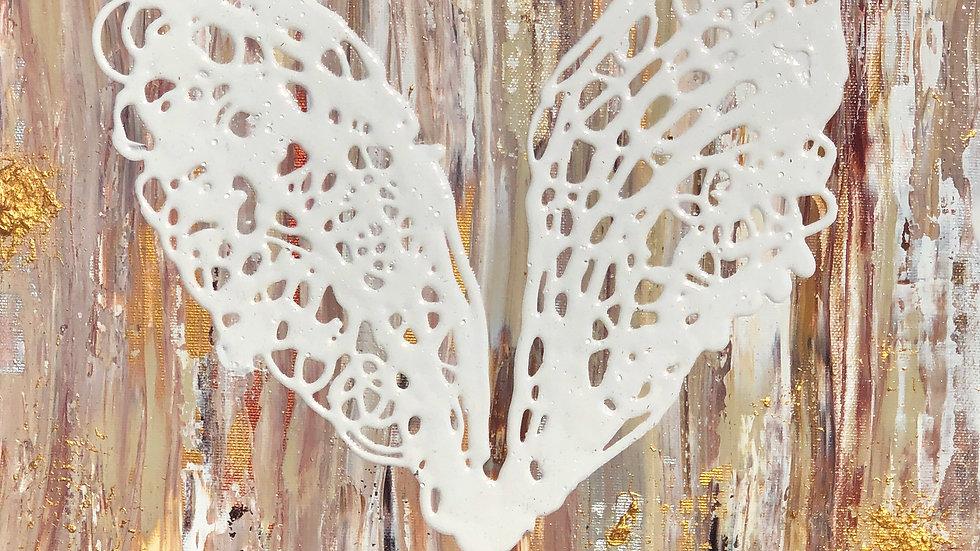 The Angel's Heart.            (40 x 50 cm)