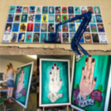 Corpus Christi's Loteria Mural, Courtney Bracco's La Mano, Downtown Corpus Christi, Kress Building, K Space, Courtney Nichole Bracco La Mano