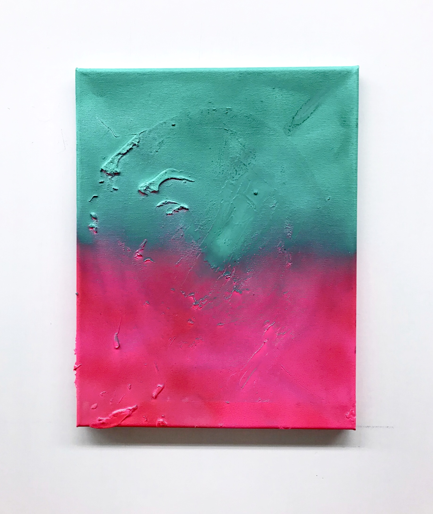 Untitled (toothpaste and spraypaint on canvas) 2019