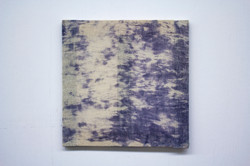 Cyanotype test stretched on cheese cloth, 2019