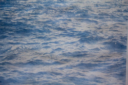 Cyanotype detail on Cotton sheet, 2019