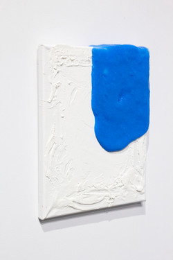 silicone and toothpaste on canvas, 2019