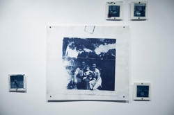 "24""x24"" Cyanotypes on rag paper, accompanied by 5""x5"" cyanotypes on premium matte photopaper, 2018"