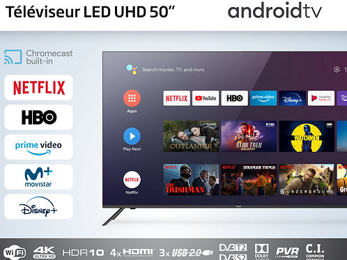 Téléviseur LED 50 pouces android tv