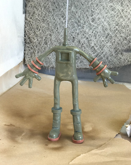 Space Man Clay Sculpt Front