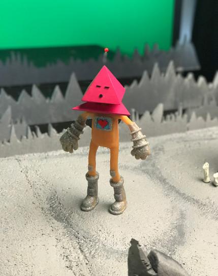 Space Man on Set