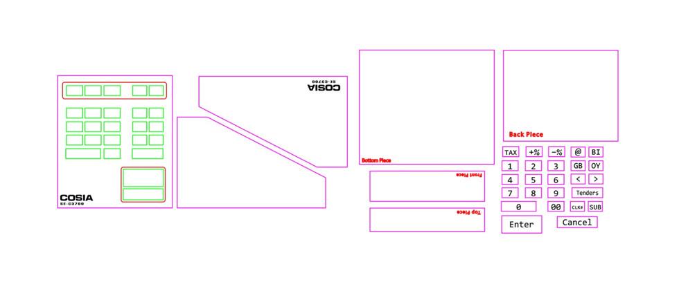 Cash Register Laser-Cut File