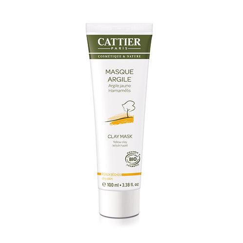 Cattier. Masque argile peaux seches. Маска с желтой глиной для сухой кожи