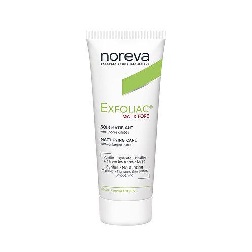 Noreva. Exfoliac soin matifiant (mat &pore). Матирующий крем для проблемной кожи