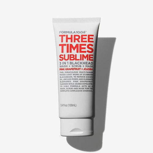 Formula 10.0.6. Three Times Sublime. Очищающее средство + скраб от воспалений