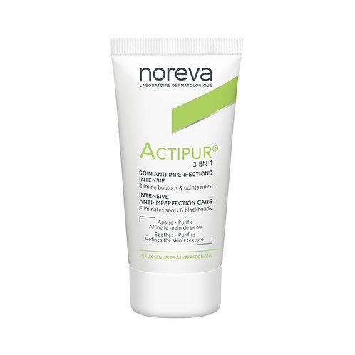 Noreva. Actipur 3 en 1 Intensif. Интенсивный крем для проблемной кожи 3 в 1
