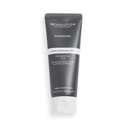 Revolution Skincare. Charcoal Pure Gommage Peel. Гоммаж пилинг с древесным углем