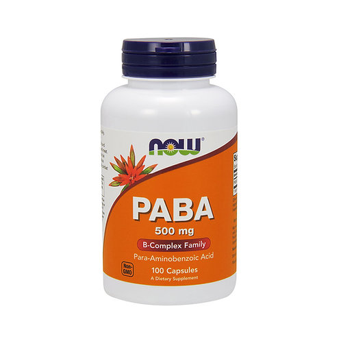 Now Foods. PABA. Пара-аминобензойная кислота (ПАБК, витамин В10)