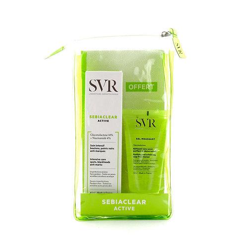 SVR.Sebiaclear Set: Active Cream + Gel Moussant. Набор для жирной кожи